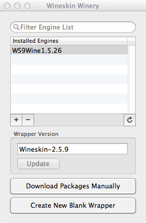 Wineskin Start Screen